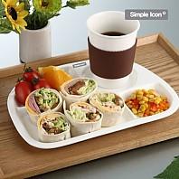 [주방용품] 심플아이콘 브런치식판/식판+캔디볼-1p