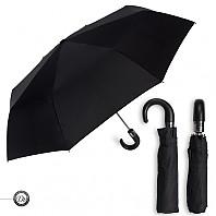 [3단우산] 도브 3단60 완전자동 곡자 가죽손잡이 우산