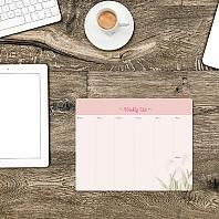 플라워 주간스케줄 메모패드 2 핑크 튤립 / 마우스  메모지