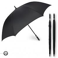 [장우산] 도브 80 쌍걸쇠 폰지무지 가죽손잡이 자동우산